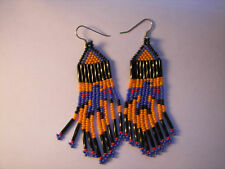 Seed Beaded Thunderbird Earrings  handcrafted