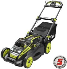 Cordless Electric Lawn Mower Self Propelled Charger 5.0 Ah Battery 20 40V Ryobi
