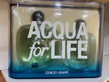 ACQUA FOR LIFE by Giorgio Armani 2 pcs gift set for women 3.4 oz parfum 1.0 oz p