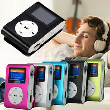 Mini USB Clip MP3 Player Support 32GB Micro SD TF Card LCD Screen Music Media