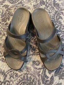 Womens Sz 10 Crocs Charcoal Worn Once