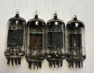(4) RCA made 12AX7A/7025/7058 twin triode audio tubes