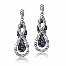 Blue Not Enhanced Diamond Fine Earrings
