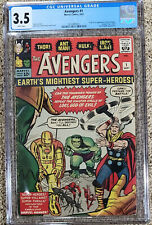 Avengers 1 CGC 3.5 White Pages!