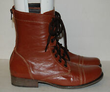 Steve Madden Womens Brown Leather Boots Shoe Size 7.5 M
