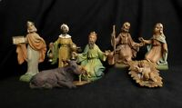 1950's Vintage Italy Figures, Christmas Nativity Scene, Lot 8 Holy Figurines