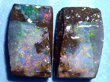 Stunning Australian Queensland Boulder Rough Opal Splits, Specimens