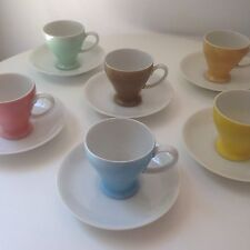 Lovely Set Of 6 Vintage Mint Porcelain Tea Demitasse Cups Occupied Japan Ucagco