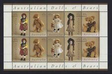 Australia 1997 Dolls and Bears Sheetlet of Stamps