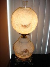 FENTON CUSTARD GLASS OLD GWTW GRAPES-FLOWER LAMP