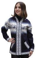 Little Llamas Hooded Alpaca Wool Knitted Jacket Hood Sweater