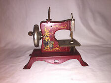 Antique Child's Toy Sewing Machine Casige Little Red Riding Hood & Wolf  C.1910
