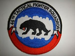 USAF 46th TACTICAL FIGHTER Squadron Patch (Inactive)