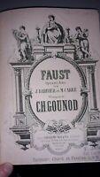 INSOLITE Faust opéra de Barbier Et Carré suivi du Petit Menestrel Gerville.