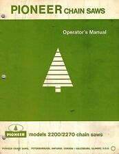 PIONEER 2200 2270 CHAIN SAWS OPERATOR'S  MANUAL