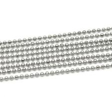 1m Chaine a Bille Couleur Argenté Diametre 2,4mm Chaine Boulle Creation Bijoux