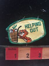 Fun Tiger HELPING OUT Volunteer Patch (used/recovered from scout vest) C748