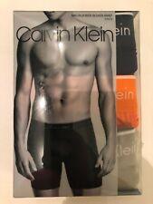 Calvin Klein Microfiber Stretch Boxer Brief 3-Pack (Black/Gray/Orange) - Large