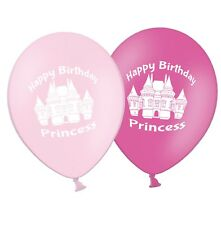 """Happy Birthday Princess  12"""" Printed Pink Assorted Latex Balloons pack of 25"""