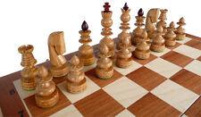 élégant Jeu d'échecs/échiquier bizant 59 x 59 cm, KH 135 mm, bois