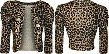Viscose Animal Print 3/4 Sleeve Machine Washable Tops & Blouses for Women