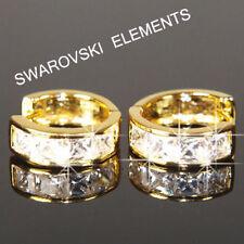 Orecchini di bigiotteria in oro giallo con cristallo