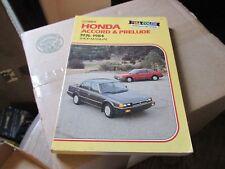 Clymer Honda Accord & Prelude Shop repair Manual book 1976-1984