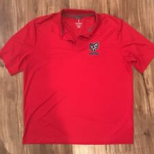 Ohio Machine Elevate Mens Lacrosse Polo Shirt Red Short Sleeves Activewear XL