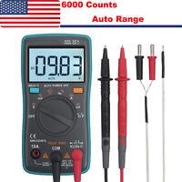 6000counts TRMS Digital Multimeter AC/DC Auto Range Voltage Current Meter Tester