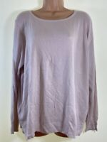 MARKS & SPENCER pale pink thin knit long sleeve jumper PLUS SIZE 20 euro 48