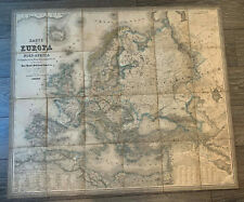 EUROPA Antique map antica mappa PILOTY & LOCHLE Munchen 1800