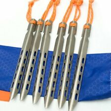 Titanium Alloy Tent Pegs With Rope 16cm V Shape Tent Stakes Tent Ground Nail OW
