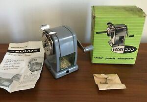 Vintage VELOS SOLO 555 Desk Pencil Sharpener - BOXED