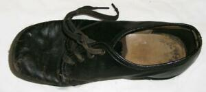 Vintage Childs Single Black Tie Shoe - Nail construction - 7-1/4 Inch Long