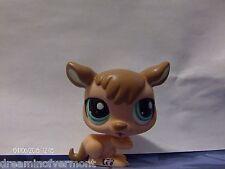 Littlest Pet Shop Dark and Light Brown Kangaroo with Sea Foam Green Eyes #1467