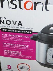 Instant Pot Duo Nova Pressure Cooker - 8Qt Model Number: 8QT Duo Nova