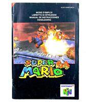Notice jeu N64 Super Mario 64 Nintendo 64 Livret Instruction Manuel PAL NEU