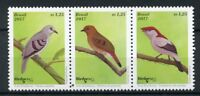 Brazil 2017 MNH Birds 3v Strip Birdpex Stamps
