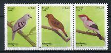 Brazil 2017 MNH Birds 3v Strip Birdpex Stamps