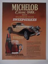 1986 Print Ad MICHELOB Beer ~ Classic 1937 Jaguar SS-100 Replica Car Sweepstakes