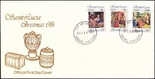 Saint (St.) Lucia - 1981 - 10 Cents - $1.50 Christmas Religious Issue #564-6 FDC
