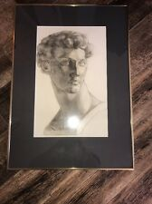 "Vintage Sister Jane Louise Circa 1925  ""David  "" Framed Nice"