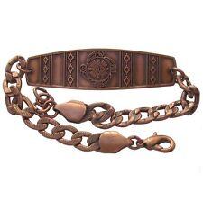 Solid Copper Bracelet 4 Elements Southwest Design Handmade Jewelry Chain Link