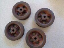 """4 - 4 1/2"""" Vintage Industrial Machine Cast Iron Wheel/Pulley Steampunk Art Part"""