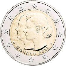 MONACO 2 EURO MARIAGE D'ALBERT II ET CHARLENE 2011 pièce commémorative Poinçonnage de frais