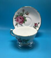 VINTAGE CUP SAUCER TEA COFFEE BONE CHINA MELBA MADE IN ENGLAND D 9 Pink Roses