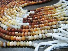 Natural Genuine Mexican Fire Opal Rondelle faceted 4-5 Beads Strand 13 inch long