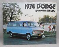 1974 Dodge Sportsman Wagons Sales Brochure Catalog Vans