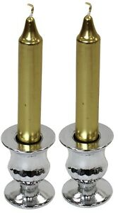 Set Of 2 Small Silver Candle Holders Candlesticks