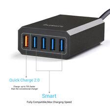 Lumsing 40W 8A Multi 5 Port USB QC2.0 Smart Fast Charging Dock Desktop Hub